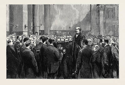 Attempt On The Life Of The Queen Reception Of The News Art Print by English School