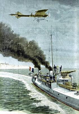Attempt To Fly Across English Channel Art Print by Universal History Archive/uig