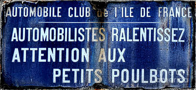 Photograph - Attention Aux Petits Poulbots  by Olivier Le Queinec