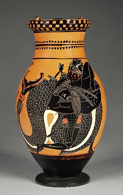 Chiusi Painting - Attic Black-figure Olpe Chiusi Painter, Greek by Litz Collection
