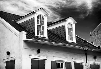 Old School House Photograph - Attic Windows by John Rizzuto