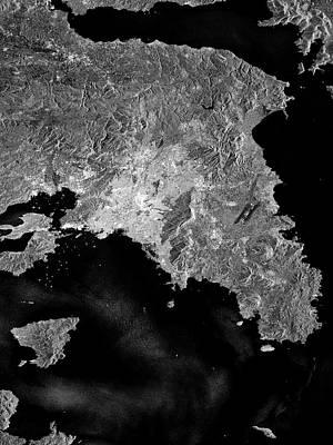 Attica Peninsula Art Print by European Space Agency