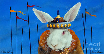 Painting - Attila The Bun.. by Will Bullas