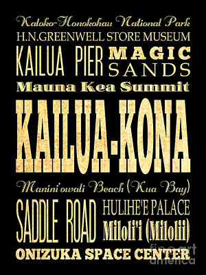 Attraction And Famous Places Of Kailua-kona Hawai Art Print