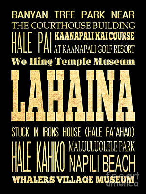 Attraction And Famous Places Of  Lahaina Hawaii Art Print