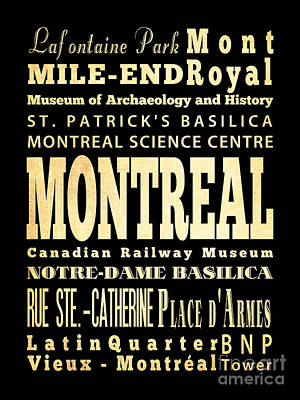 Montreal Memories Digital Art - Attraction And Famous Places Of Montreal Canada by Joy House Studio