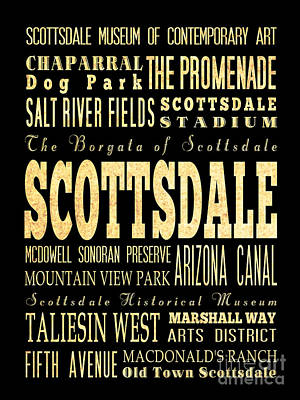Attraction And Famous Places Of Scottsdale Georgia Art Print by Joy House Studio