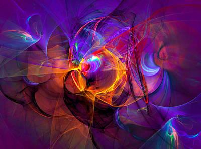Spiritual Art Digital Art - Attraction by Modern Art Prints