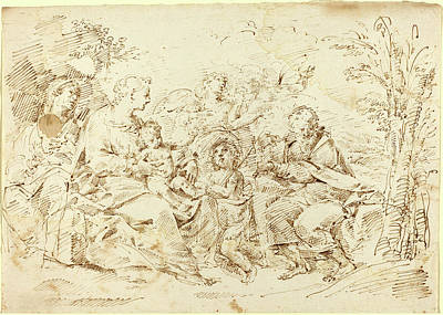 Wash Drawing - Attributed To Donato Creti, Italian 1671-1749 by Litz Collection