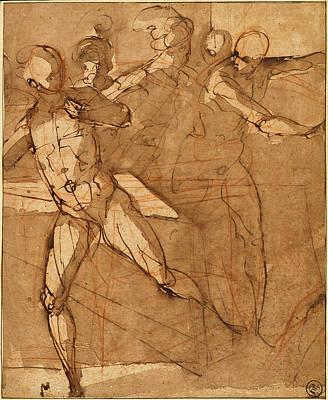 Attributed To Il Cigoli, Italian 1559-1613 Art Print by Litz Collection