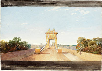 Suspension Drawing - Attributed To James Bulwer British, 1794 - 1879 by Quint Lox