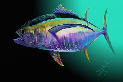 Dolphins Digital Art - Atun by Yusniel Santos