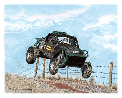 Painting - Atv Madness Offroad by Jack Pumphrey