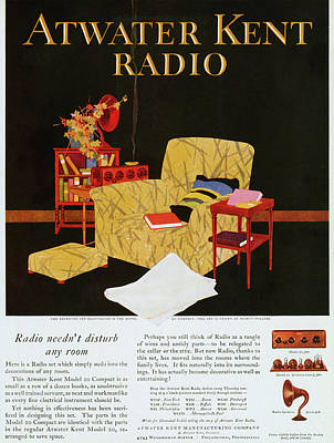 Atwater Painting - Atwater Kent Radio Ad, 1925 by Granger