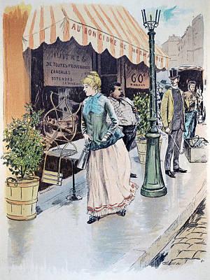 Archives Drawing - Au Bon Cidre De Normandie, Oysters, Shopping, Paris, France by French School