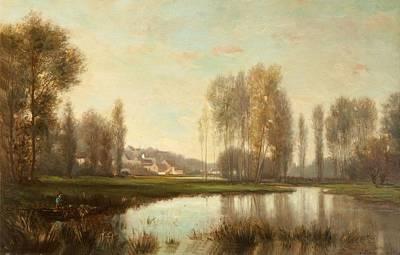 Au Bord De Loise Art Print by Stanislas Victor Edouard Lepine