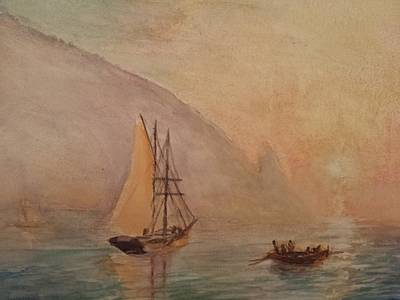 Painting - Au-dag After I. K. Aivazovsky by J Anthony Shuff