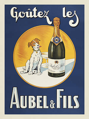 Champagne Painting - Aubel And Fils by Vintage Images