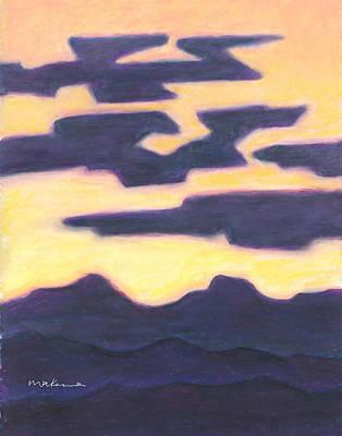 Painting - Aubergine Nightfall by Carrie MaKenna