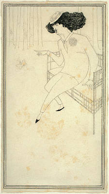 Caricature Drawing - Aubrey Beardsley, British 1872-1898 by Litz Collection