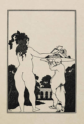 Famous Book Photograph - Aubrey Beardsley's Book Plate by British Library
