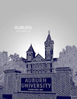 Aubie Digital Art - Auburn University by Myke Huynh