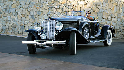 Photograph - Auburn V12 Boat Tail Roadster by Bill Dutting
