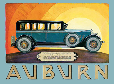 Photograph - Auburn by Vintage Automobile Ads and Posters