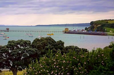 Auckland Harbor With Pier Original