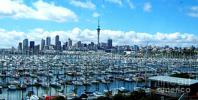 Photograph - Auckland Skyline by John Potts