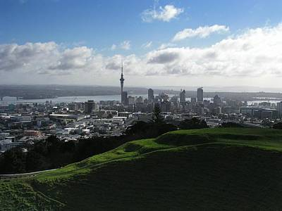 Auckland With Mt. Eden Art Print by David and Mandy