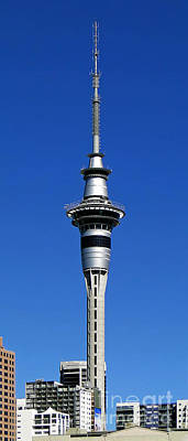 Photograph - Auckland's Sky Tower by Sue Melvin