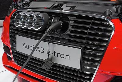 Tron Wall Art - Photograph - Audi A-3 E-tron Electric Car by Jim West