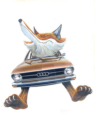 Painting - Audi Fox 4 by Mel Greifinger