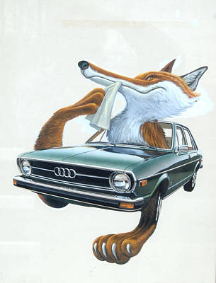 Painting - Audi Fox Artwork 1 by Mel Greifinger