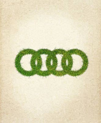 Eco Digital Art - Audi Grass Logo by Aged Pixel