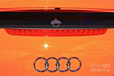 Art Print featuring the photograph Audi Orange by Linda Bianic