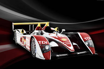 Audi R10 Art Print by Peter Chilelli