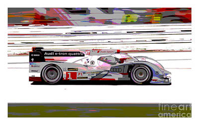 Tron Photograph - Audi R18 E-tron Bordered by Pixelated Foto