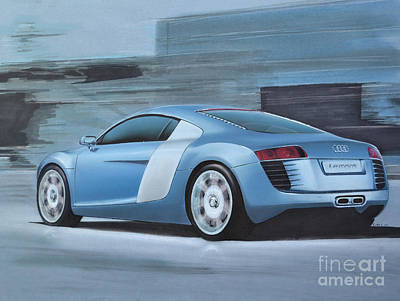 Wheel Drawing - Audi R8 Lemans Concept by Paul Kuras