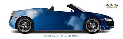 Audi R8 Tibenham B24 Skies Art Print
