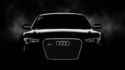 Low-key Digital Art - Audi Rs5 by Douglas Pittman