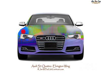 Photograph - Audi S5 Elvington Wing by Art Faul