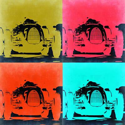 Old Cars Painting - Audi Silver Arrow Pop Art 2 by Naxart Studio