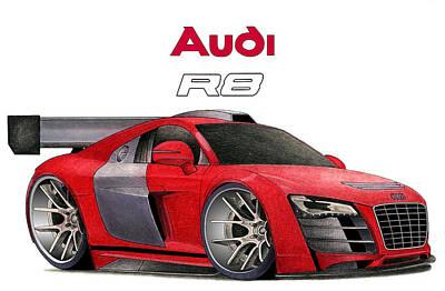Audi Toon Print by Lyle Brown