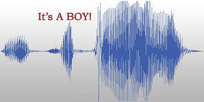 Tom Boy Digital Art - Audio Art It's A Boy by Thomas Woolworth