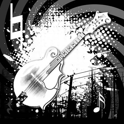 Bass Digital Art - Audio Deco 4 by Melissa Smith