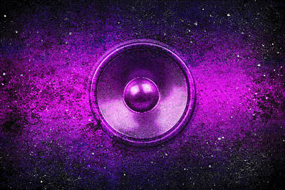 Digital Art - Audio Purple by Steve Ball