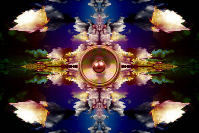 Popstar And Musician Paintings Royalty Free Images - Audio reflect 2 Royalty-Free Image by Steve Ball