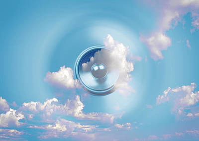 Digital Art - Audio Sky 1 by Steve Ball